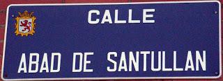 Calle Abad de Santullan - placa
