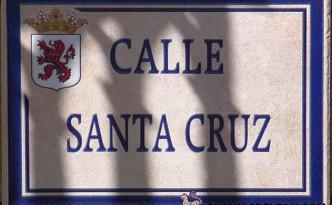 Calle Santa Cruz - placa