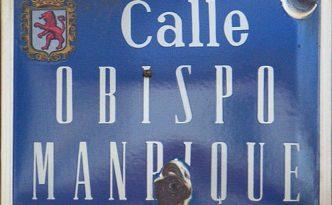 Calle Obispo Manrique - placa