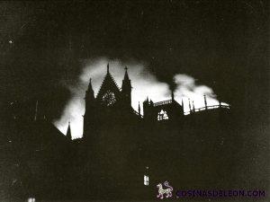 Incendio Catedral de León