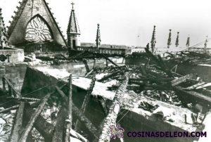 Incendio Catedral de Leon (2)