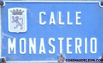 calle Monasterio placa