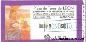 Plaza deToros de Leon entrada 50 aniversario