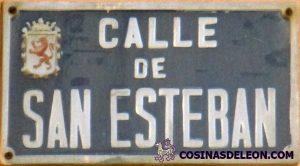 Calle San Esteban placa